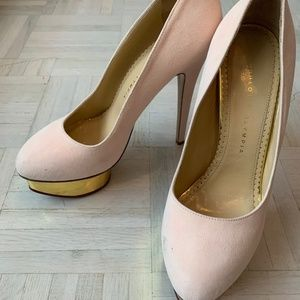 Brand New Charlotte Olympia Pink Dolly Heels